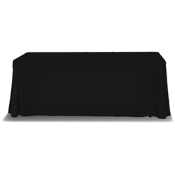 Table Cover Draped 6ft, 3-sided w/Open Back. Stylish and elegant, table throws professionally present your company image at events and trade shows. These premium quality polyester twill table throws are easy to care for and can be easily washed. The stain