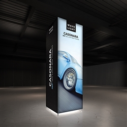 Breathe new light into your brand, exhibit, event or retail shop with the 3'x10'  Wavelight Casonara Tower Light Box Displays.