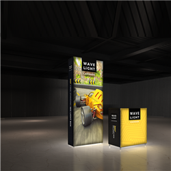 Breathe new light into your brand, exhibit, event or retail shop with the 3' x 8' WaveLight Casonara SEG Light Box Displays. This pioneering new SEG tension fabric light box is designed to make backlit graphics more portable, modular and customizable.