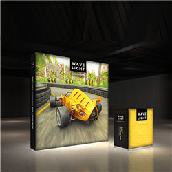 Breathe new light into your brand, exhibit, event or retail shop with the 8' x 8' WaveLight Casonara SEG Light Box Displays. This pioneering new SEG tension fabric light box is designed to make backlit graphics more portable, modular and customizable.