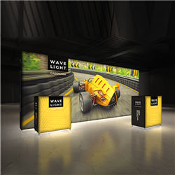 Breathe new light into your brand, exhibit, event or retail shop with the 18.5' x 8' WaveLight Casonara SEG Light Box Displays. This pioneering new SEG tension fabric light box is designed to make backlit graphics more portable, modular and customizable.