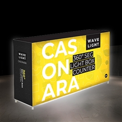 WaveLight Backlit Displays are an extremely innovative collection of portable solutions for Backlit Walls, Backlit Towers, Backlit Counters. These exhibits use backlit dye-sublimated fabric to produce a customized lightbox for your trade show or event.