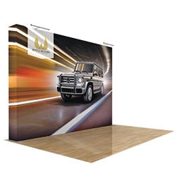 10ft x 8ft Star Straight Fabric Popup Display w/o Endcaps (Graphic & Hardware)