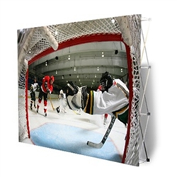 VBurst 12ft Straight Fabric Popup Display from xyzDisplays is a perfect choice for anyone that needs a large display but is unwilling to give up durability, weight, ease of setup, or quality. This display system is ideal for your next expo, tradeshow.
