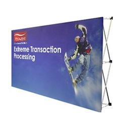 VBurst 8ft Fabric Popup Tabletop Display from xyzDisplays is a perfect choice for anyone that needs a large display but is unwilling to give up durability, weight, ease of setup, or quality. This display system is ideal for your next expo, tradeshow.