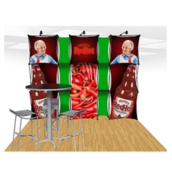 10ft Xpressions SNAP Connex Kit A Tradeshow Display. Create a stunning 3-dimensional display in a Snap! Twelve frames, two planes for integrated graphics, and infinite configurations, offer a playground to create dramatic effects