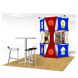 10ft Xpressions SNAP Connex Kit B Tradeshow Display. Create a stunning 3-dimensional display in a Snap! Twelve frames, two planes for integrated graphics, and infinite configurations, offer a playground to create dramatic effects