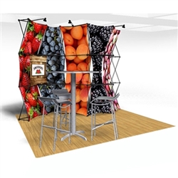 10ft Xpressions SNAP Connex Kit C Tradeshow Display. Create a stunning 3-dimensional display in a Snap! Twelve frames, two planes for integrated graphics, and infinite configurations, offer a playground to create dramatic effects