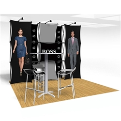 10ft Xpressions SNAP Connex Kit D Tradeshow Display. Create a stunning 3-dimensional display in a Snap! Twelve frames, two planes for integrated graphics, and infinite configurations, offer a playground to create dramatic effects