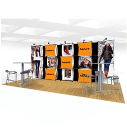 20ft Xpressions SNAP Connex Kit A Tradeshow Display. Create a stunning 3-dimensional display in a Snap! Twelve frames, two planes for integrated graphics, and infinite configurations, offer a playground to create dramatic effects