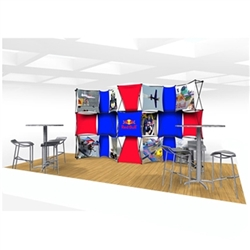 20ft Xpressions SNAP Connex Kit C Tradeshow Display. Create a stunning 3-dimensional display in a Snap! Twelve frames, two planes for integrated graphics, and infinite configurations, offer a playground to create dramatic effects