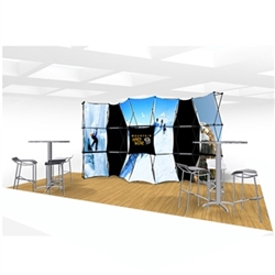 20ft Xpressions SNAP Connex Kit D Tradeshow Display. Create a stunning 3-dimensional display in a Snap! Twelve frames, two planes for integrated graphics, and infinite configurations, offer a playground to create dramatic effects