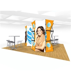 20ft Xpressions SNAP Connex Island Kit A Tradeshow Display. Create a stunning 3-dimensional display in a Snap! Twelve frames, two planes for integrated graphics, and infinite configurations, offer a playground to create dramatic effects
