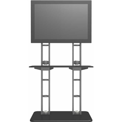 Orbital Express Truss Large Monitor Kiosk 02. Displays will highlight your video presentation at your next event! Create excitement and movement at your events with Trade Show Display Kiosks and Monitor Kiosks that support your multi-media presentations!