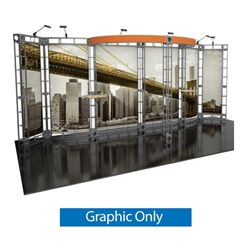 10ft x 20ft Antares Orbital Express Truss Replacement Fabric Graphics. Create a beautiful trade show display that's quick and easy to set up without any tools with the 10ft x 20ft Antares Truss Display. Truss displays are the most impactful exhibits