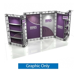 10ft x 20ft Indus Orbital Express Truss Replacement Fabric Graphics. Create a beautiful trade show display that's quick and easy to set up without any tools with the 10x20 Indus Truss Display. Truss displays are the most impactful exhibits