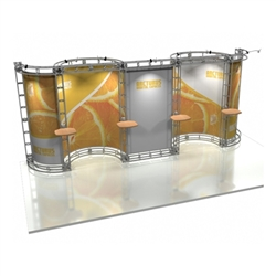 10ft x 20ft Arcturus Orbital Express Trade Show Truss Display with Fabric Graphics. We specialize in Trade show Displays, Truss Display Booth, Custom Modular Truss Systems and Related Truss Products. We also do custom design for Truss Displays