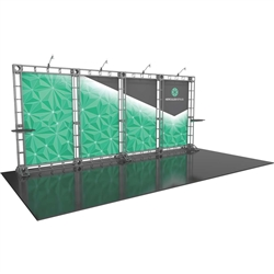 20ft Hercules 13 Orbital Express Truss Back Wall Display with Fabric Graphics is the next generation in dynamic trade show structure. Modular and portable display truss for stage systems, trade show exhibit stands, displays and backwall booths
