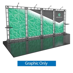 20ft Hercules 13 Orbital Express Truss Back Wall Display Replacement Rollable Graphics. It is the next generation in dynamic trade show structure. Modular and portable display truss for stage systems, trade show exhibit stands, displays and backwall booth