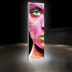 2.5ft x 8ft Vector Frame Master Dynamic Light Box | Animated SEG Fabric Backlit Display