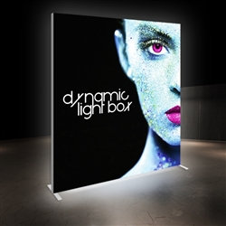 7ft x 8ft Vector Frame Master Dynamic Light Box | Animated SEG Fabric Backlit Display