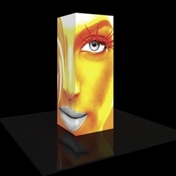 3ft x 8ft Vector Frame Modular Backlit Tower 01 . Vector Frame Towers are the perfect promotional display to use in events, in convention halls and in interior spaces of all types to show messaging and branding in a sharp and sophisticated way