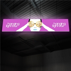 20ft x 4ft Vector Frame Hanging Light Box | Backlit Hanging Banner | Single-Sided SEG Push-Fit Fabric Graphic