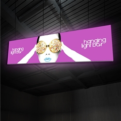 20ft x 5ft Vector Frame Hanging Light Box | Backlit Hanging Banner | Single-Sided SEG Push-Fit Fabric Graphic
