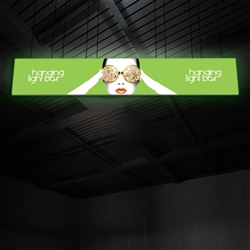 30ft x 5ft Vector Frame Hanging Light Box | Backlit Hanging Banner | Single-Sided SEG Push-Fit Fabric Graphic