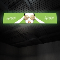 30ft x 6ft Vector Frame Hanging Light Box | Backlit Hanging Banner | Single-Sided SEG Push-Fit Fabric Graphic