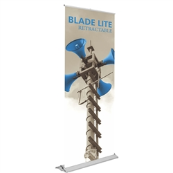 33.5in Blade Lite 850 Retractable Banner Stand With Vinyl Banner are the perfect marketing solutions for trade show booths, exhibits and displays. Full line of trade show displays, pop up booths, retractable banner stands, table top displays, banner stand