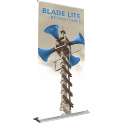 48in Blade Lite 1200 Retractable Banner Stand with Vinyl Banner are the perfect marketing solutions for trade show booths, exhibits and displays. Full line of trade show displays, pop up booths, retractable banner stands, table top displays, banner stands