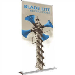 60in Blade Lite 1500 Retractable Banner Stand with Vinyl Banner are the perfect marketing solutions for trade show booths, exhibits and displays. Full line of trade show displays, pop up booths, retractable banner stands, table top displays, banner stands