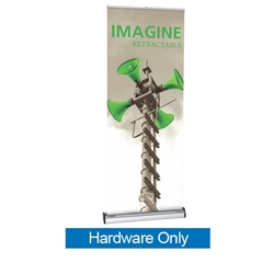 31.5in Imagine Interchangeable Cassette Retractable Banner Stand Hardware Only is a premium, single-sided cassette retractable banner stand display for frequent graphics changes and switch-outs, our most popular removable cassette roller system