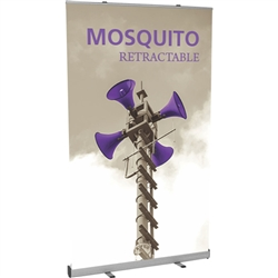 48in Mosquito 1200 Retractable Banner Stand Display with Vinyl Banner is the perfect addition to any display. Mosquito 1200 Retractable Banner Stand called roll up banner stands or pull up banner stands