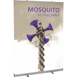 60 in Jumbo Wide Mosquito 1500 Retractable Banner Stand Display with Vinyl Banner is the perfect addition to any display. With the Jumbo Wide Retractor simply pull out the banner, hook it to the two support bars and you are ready to display.