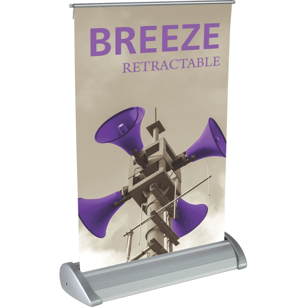 8in X 11in Breeze 1 Retractable Tabletop Banner Stand Display With