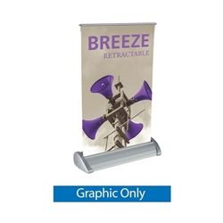 Vinyl Banner Only for 8in x 11in Breeze Retractable Tabletop Display . Breeze a small tabletop-sized version of larger roll-up signs. Ideal for retail store point of purchase counter tops, convention tables, or just about anywhere you want a sign
