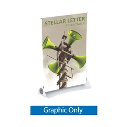 Vinyl Banner for 8.5in x 11in Stellar Letter Retractable Tabletop Banner Stand - a small tabletop-sized version of larger roll-up signs. View a wide variety of portable banner stands to use at your tradeshows and conferences