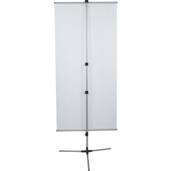 31.5in Trio Double-Sided Telescoping Banner Stand Hardware Only - This Telescopic banner stand is perfect for nearly any display needs. An excellent choice for a telescopic banner stand, the Trio supports a single and double-sided graphic.