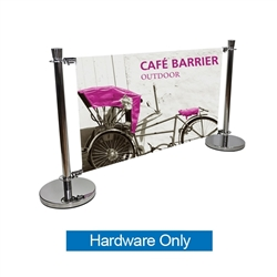 Crowd Control Cafe Barrier Extension Kit Hardware Only is addition to indoor/outdoor modular display Cafe Barrier Kit. Crowd control barrier, like this fencing barricade, is a great way to promote a new business, brand or event.