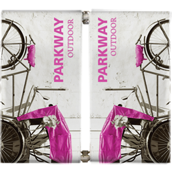 Parkway Double-Span Street Banner Pole Set Hardware Only will provide you both stability and striking looks. Street Pole Banners, avenue banners, or main street banners; call them what you like we have them.