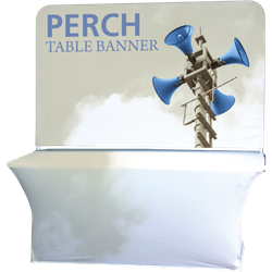 6ft Perch Medium Table Pole Banner Kit will provide you both stability and striking looks. Street Pole Banners, avenue banners, or main street banners; call them what you like we have them.