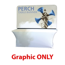 8ft Perch Medium Table Pole Banner Graphic Only will provide you both stability and striking looks. Street Pole Banners, avenue banners, or main street banners; call them what you like we have them.