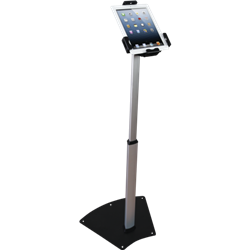 The Universal Tablet Stand is a versatile tablet stand that can hold numerous tablet styles. It can be positioned in either portrait or landscape configurations. Security screws and lock make the unit both durable and theft resistant. For extra security,
