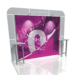 Linear 10ft x 10ft Kit 01 Trade Show Display provides the looks, style and sophistication of a custom exhibit with the ease, convenience and value that you're looking for. The Linear range of portable exhibits is designed to ship with minimal lead time