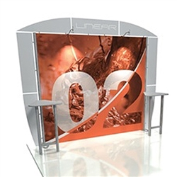 Linear 10ft x 10ft Kit 02Trade Show Display provides the looks, style and sophistication of a custom exhibit with the ease, convenience and value that you're looking for. The Linear range of portable exhibits is designed to ship with minimal lead time