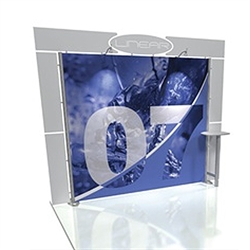 Linear 10ft x 10ft Kit 07 Trade Show Display provides the looks, style and sophistication of a custom exhibit with the ease, convenience and value that you're looking for. The Linear range of portable exhibits is designed to ship with minimal lead time