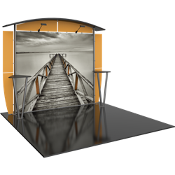 Linear 10ft x 10ft Kit 22 Trade Show Display provides the looks, style and sophistication of a custom exhibit with the ease, convenience and value that you are looking for. The Linear range of portable exhibits is designed to ship with minimal lead time