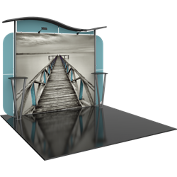 Linear 10ft x 10ft Kit 25 Trade Show Display provides the looks, style and sophistication of a custom exhibit with the ease, convenience and value that you're looking for. The Linear range of portable exhibits is designed to ship with minimal lead time